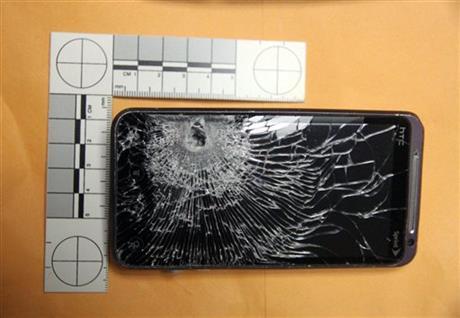 cellphone stopped bullet